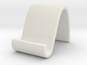 landschape & portrait phone stand 'Wave' in White Natural Versatile Plastic