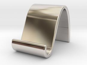landschape & portrait phone stand 'Wave' in Platinum