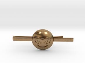 Nerd Tie Clip in Natural Brass