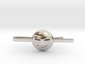 Cool Tie Clip in Rhodium Plated Brass