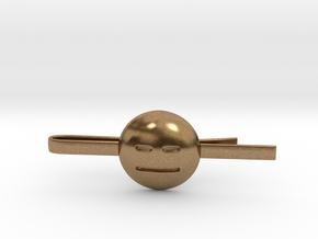Expressionless Tie Clip in Natural Brass