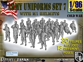 1-96 Army Modern Uniforms Set7 in Smooth Fine Detail Plastic