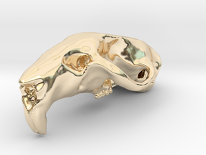 RAT SKULL PENDANT in 14k Gold Plated Brass