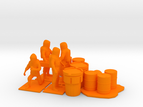 Hazmat Team 3, Multiple Scales in Orange Processed Versatile Plastic: 1:64