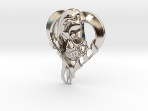 Beauty And Death in Rhodium Plated Brass