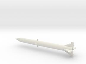 1/200 Scale Redstone Missile in White Natural Versatile Plastic