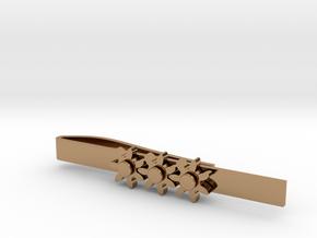 "Kinetic Gear Tie Clip (2.25"" Bar) in Polished Brass (Interlocking Parts)"