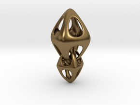 Tetrahedron Double Interlocked in Natural Bronze (Interlocking Parts)