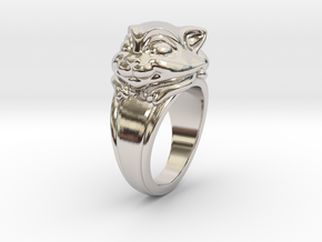 Cat Pet Ring - 18.89mm - US Size 9 in Platinum