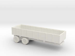 1/200 Scale M-35 Cargo Trailer in White Natural Versatile Plastic