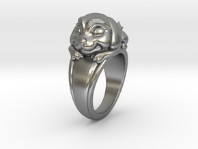 Dog Pet Ring - 18.89mm - US Size 9 in Natural Silver