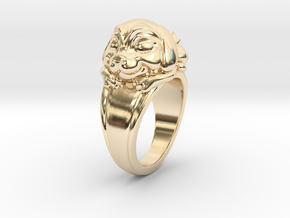 Dog Pet Ring - 18.89mm - US Size 9 in 14K Yellow Gold