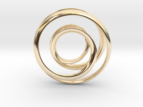 Mobius strip - Pendant in 14k Gold Plated Brass