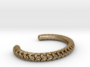 Combine Cuff Medium Narrow in Polished Gold Steel