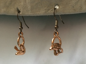 Sloth Earrings in 14k Rose Gold Plated Brass