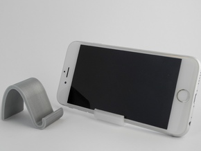 landschape & portrait phone stand 'Wave' in Polished Metallic Plastic