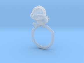 Bird Pet Ring - 18.19mm - US Size 8 in Smooth Fine Detail Plastic