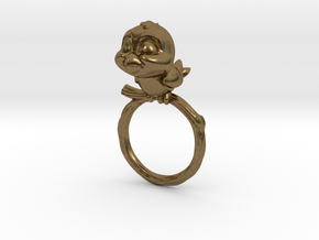 Bird Pet Ring - 18.19mm - US Size 8 in Natural Bronze