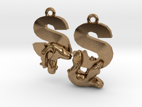 S Is For Sloth in Natural Brass