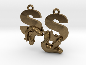 S Is For Sloth in Natural Bronze
