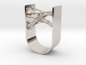 Synapse Ring in Rhodium Plated Brass: 11 / 64