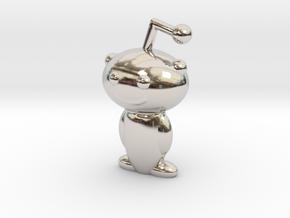Snoo in Rhodium Plated Brass
