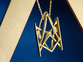 Synapse Pendant in Polished Brass