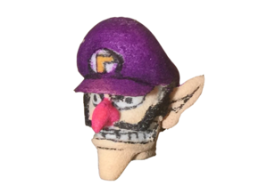 Custom Waluigi Lego in White Strong & Flexible
