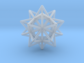 Stellated Icosahedron in Smooth Fine Detail Plastic
