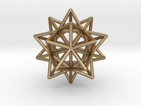 Stellated Icosahedron in Polished Gold Steel