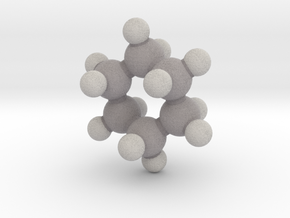 Cyclohexane (chair) in Full Color Sandstone