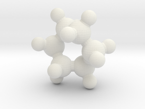 Cyclohexane (twist-boat) in White Natural Versatile Plastic