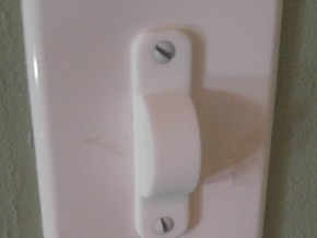 Normal Light Switch Cover in White Strong & Flexible