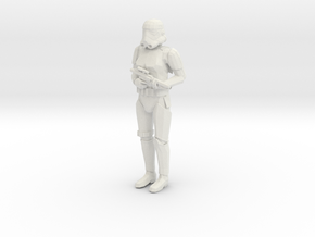 Stormtrooper in position of Attention in White Natural Versatile Plastic: 1:43