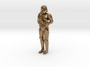 Stormtrooper in position of Attention in Natural Brass: 1:48