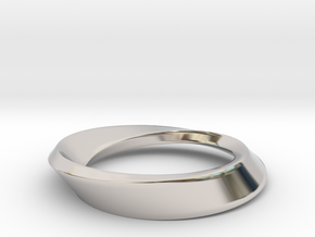 Mobius Large in Rhodium Plated Brass
