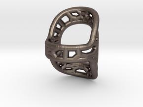 RingSplint US Size-4 in Polished Bronzed Silver Steel