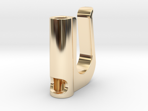 Ecig Clip in 14k Gold Plated Brass