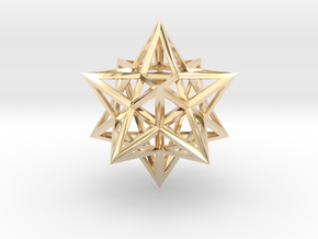 Stellated Dodecahedron in 14K Yellow Gold