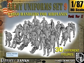 1-87 Army Modern Uniforms Set9 in Smooth Fine Detail Plastic