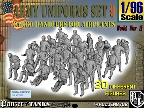 1-96 Army Modern Uniforms Set9 in Smooth Fine Detail Plastic