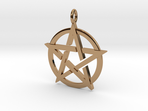 Pentagram Pendant in Polished Brass