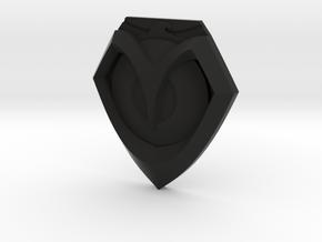 McCree Hat Emblem in Black Natural Versatile Plastic