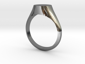 Signet - Sz. 7 in Fine Detail Polished Silver