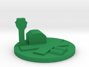 Game Piece, Airfield in Green Processed Versatile Plastic