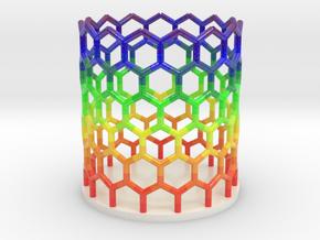 Rainbow Nanotube Pen Holder in Glossy Full Color Sandstone