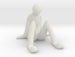 Mobile Dock - Sitting Man in White Natural Versatile Plastic