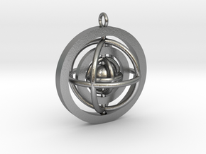 Rotating planet in Natural Silver (Interlocking Parts)