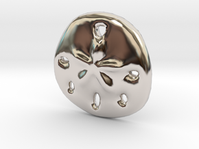Sandollar Charm in Rhodium Plated Brass
