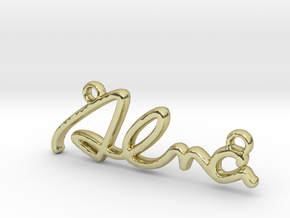 ALMA Script First Name Pendant in 18k Gold Plated Brass